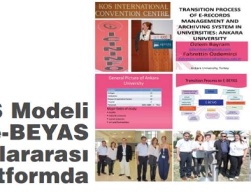 BEYAS Modeli ve e-BEYAS Modeli Uluslararası Platformda