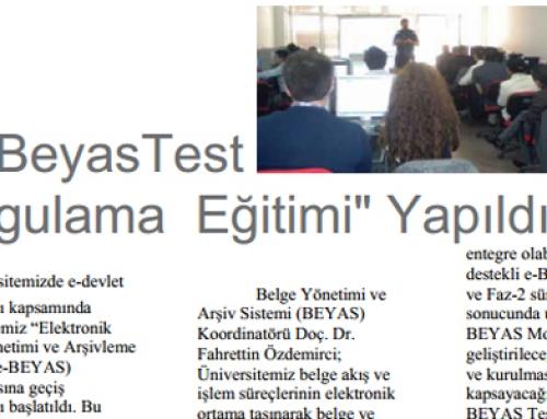 e-Beyas Test Uygulama Eğitimi Yapıldı